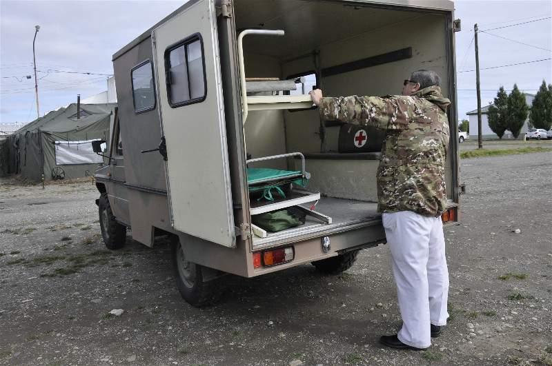 El Ejército además cuenta con cuatro ambulancias 4x4 tipo unimog.