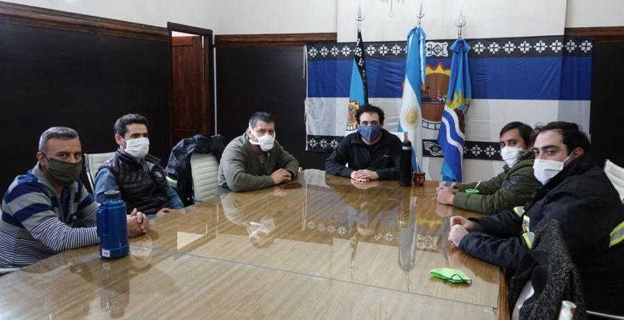 El presidente de AGVP, Mauricio Gómez Bull, se reunió con el intendente de Las Heras, José María Carambia.