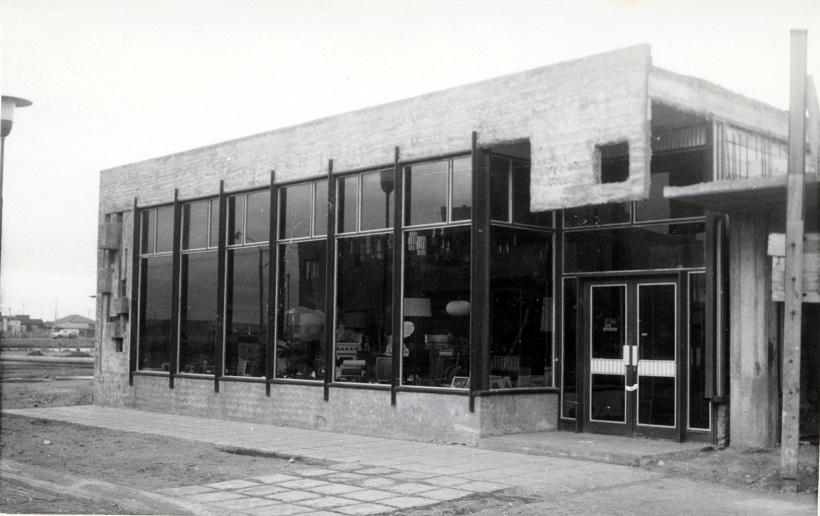 Casa Barbería aun sin terminar, años 60. FOTO GENTILEZA JULIO BELTRÁN.