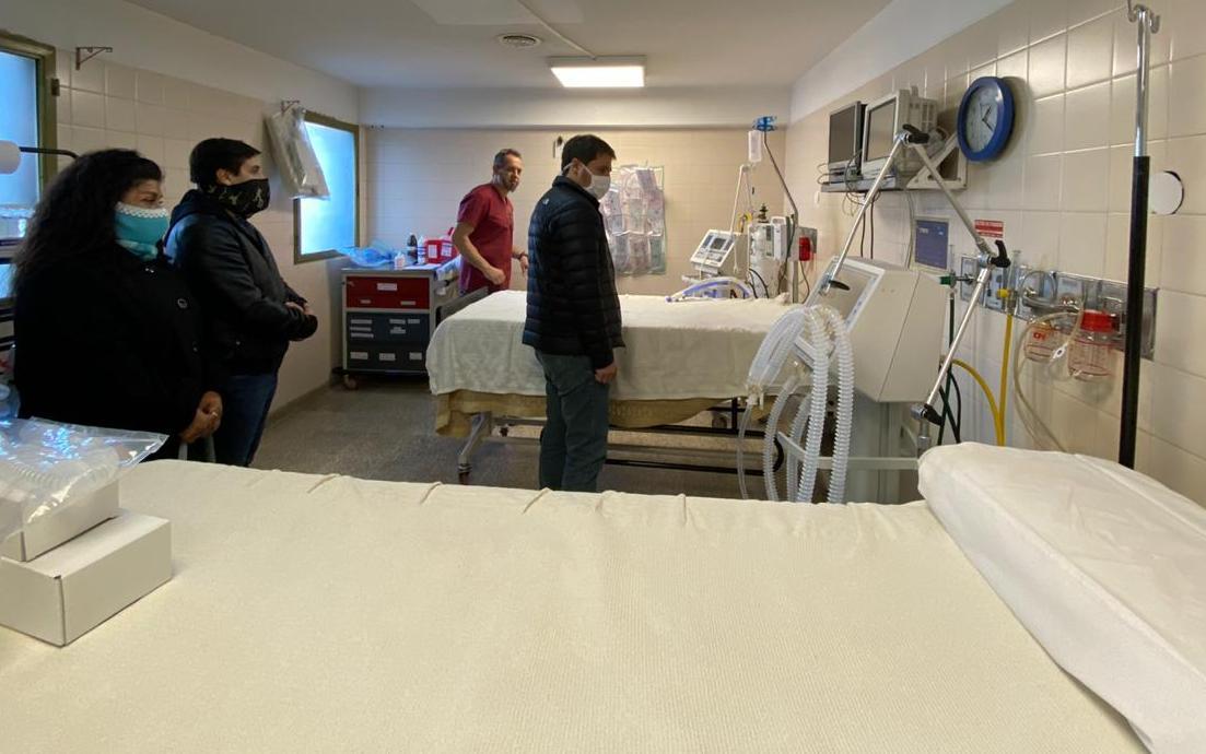 Zuliani recorrió además las instalaciones del Hospital de Pto. Santa Cruz.