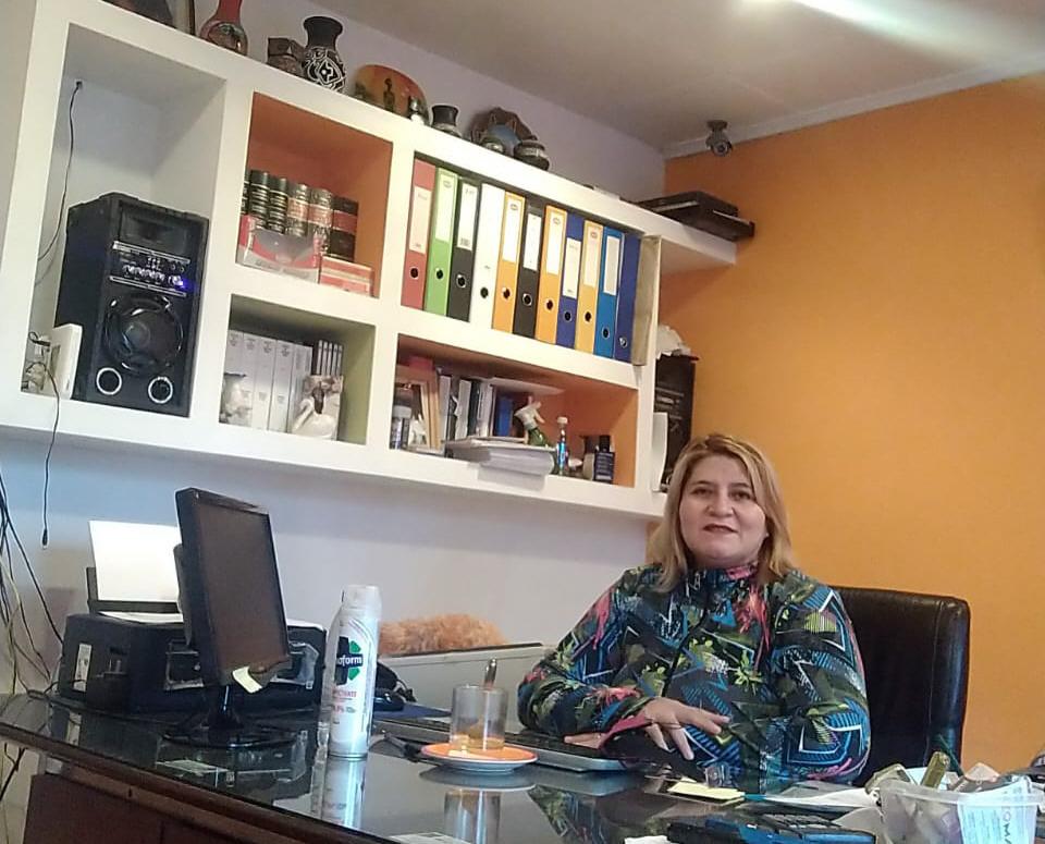 Lidia Rolón, gestora del automotor, se amolda a la pandemia. FOTO: ARCHIVO