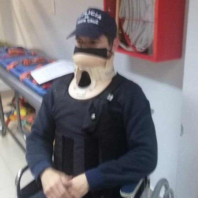 Así quedó Juan Carlos Rodríguez, luego de ser agredido.