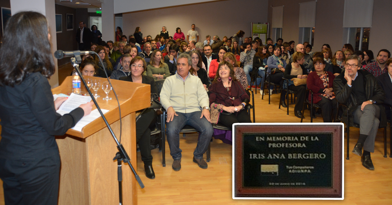A mediados del 2016, la UNPA-UARG decidió ponerle el nombre de la docente al auditorio. FOTO: ARCHIVO