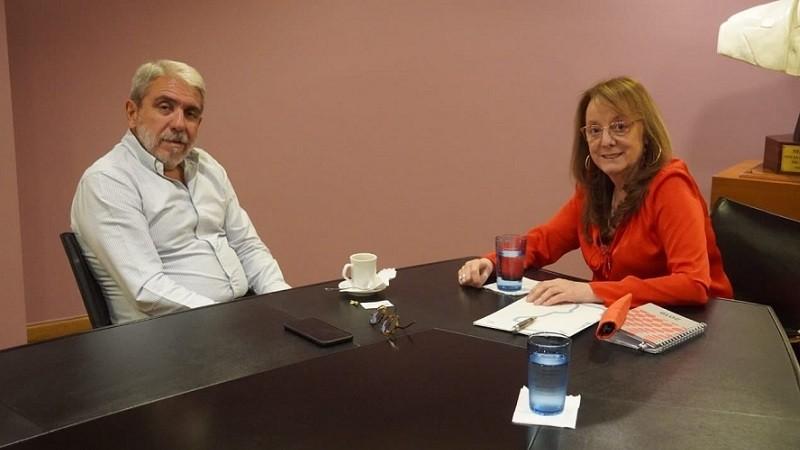 Aníbal Fernández junto a la gobernadora Alicia Kirchner.