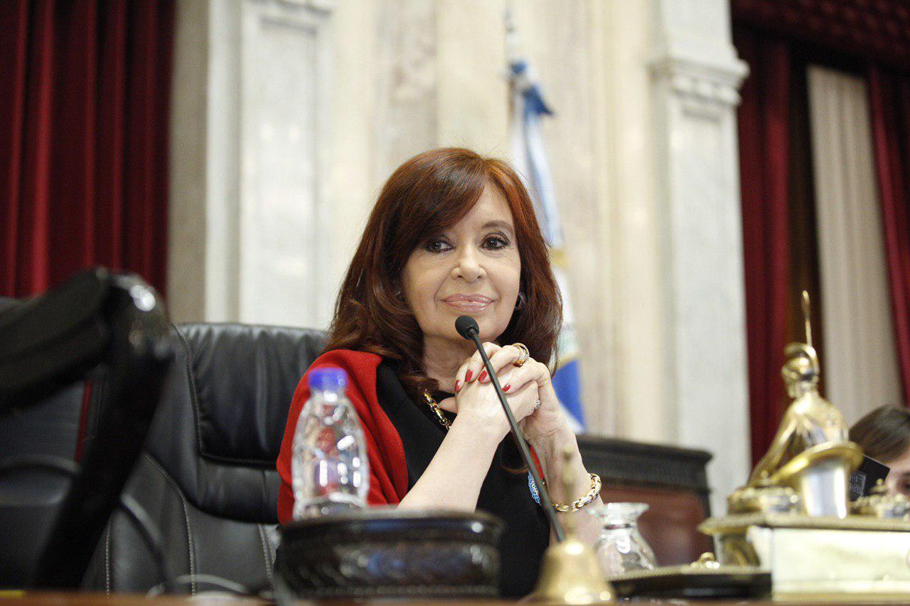La presidenta del Senado y vicepresidenta de la Nación, Cristina Fernández de Kirchner