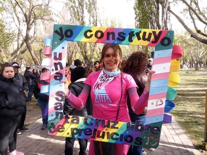 Delfina Brizuela, militante por los derechos LGBT.