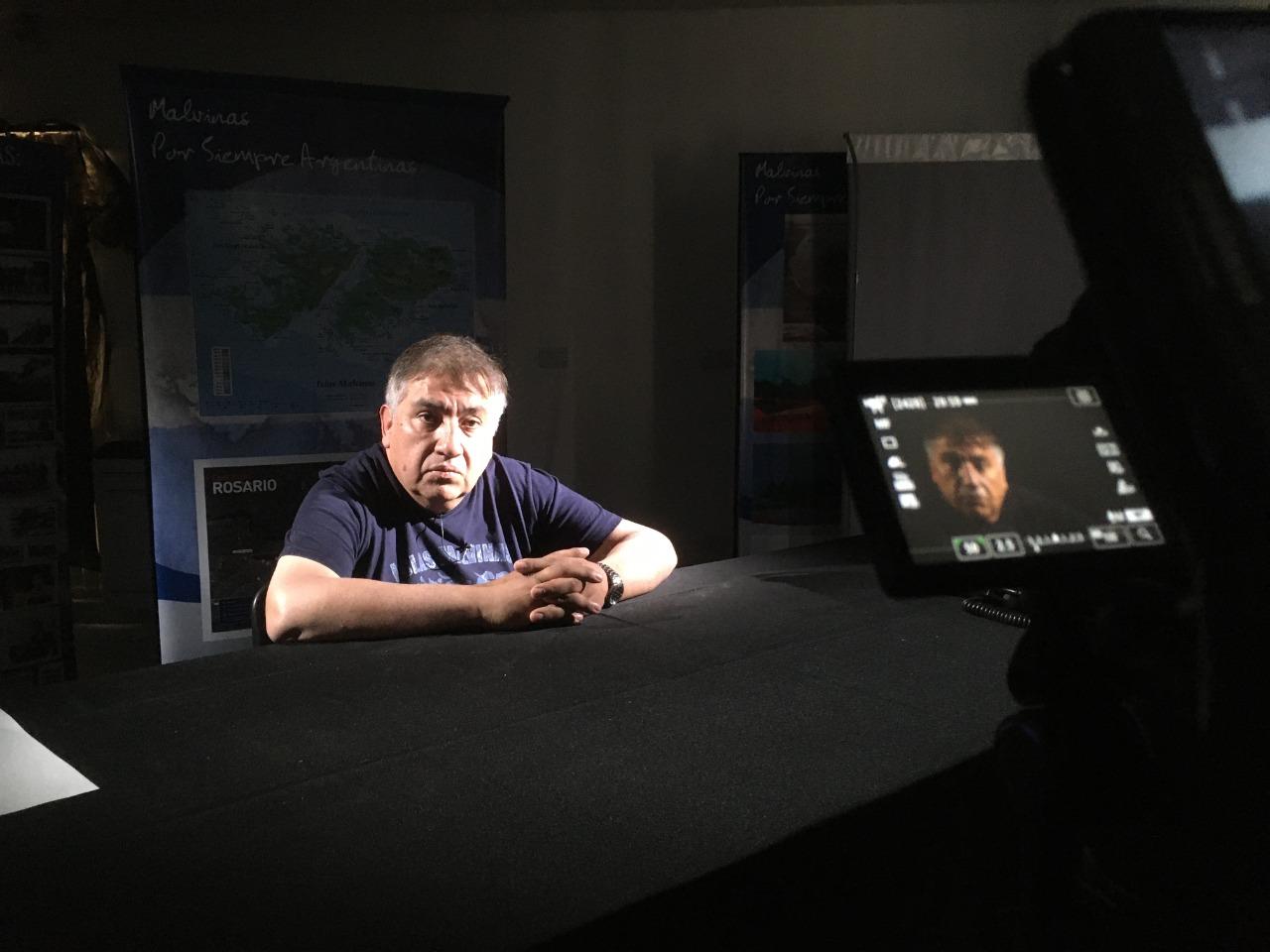 Luis Maza, el ex combatiente de Malvinas, que protagoniza el film y su historia sorprendente. Foto: Lucas Silva.