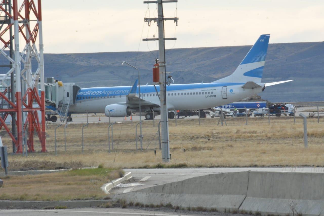 El avión de Aerolíneas aterrizó este miércoles por la tarde. FOTO: JOSÉ SILVA