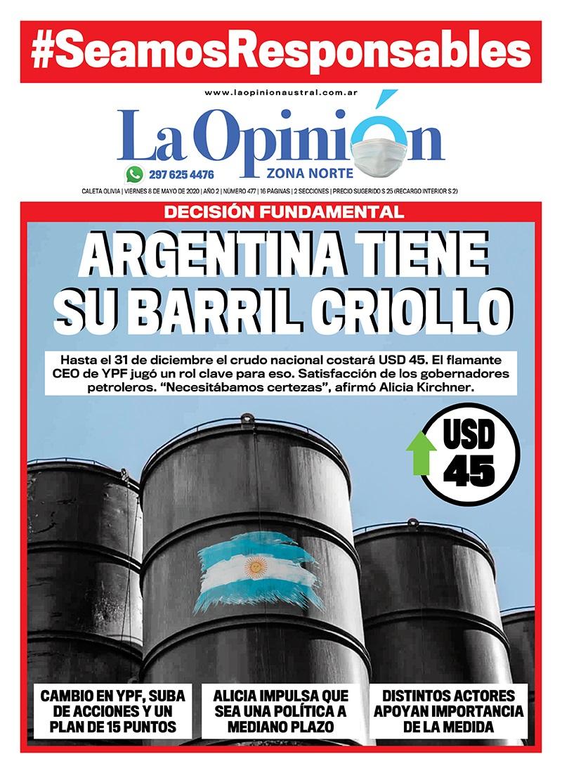 Así contó La Opinión Zona Norte la decisión de volver a instalar el barril criollo en Argentina.