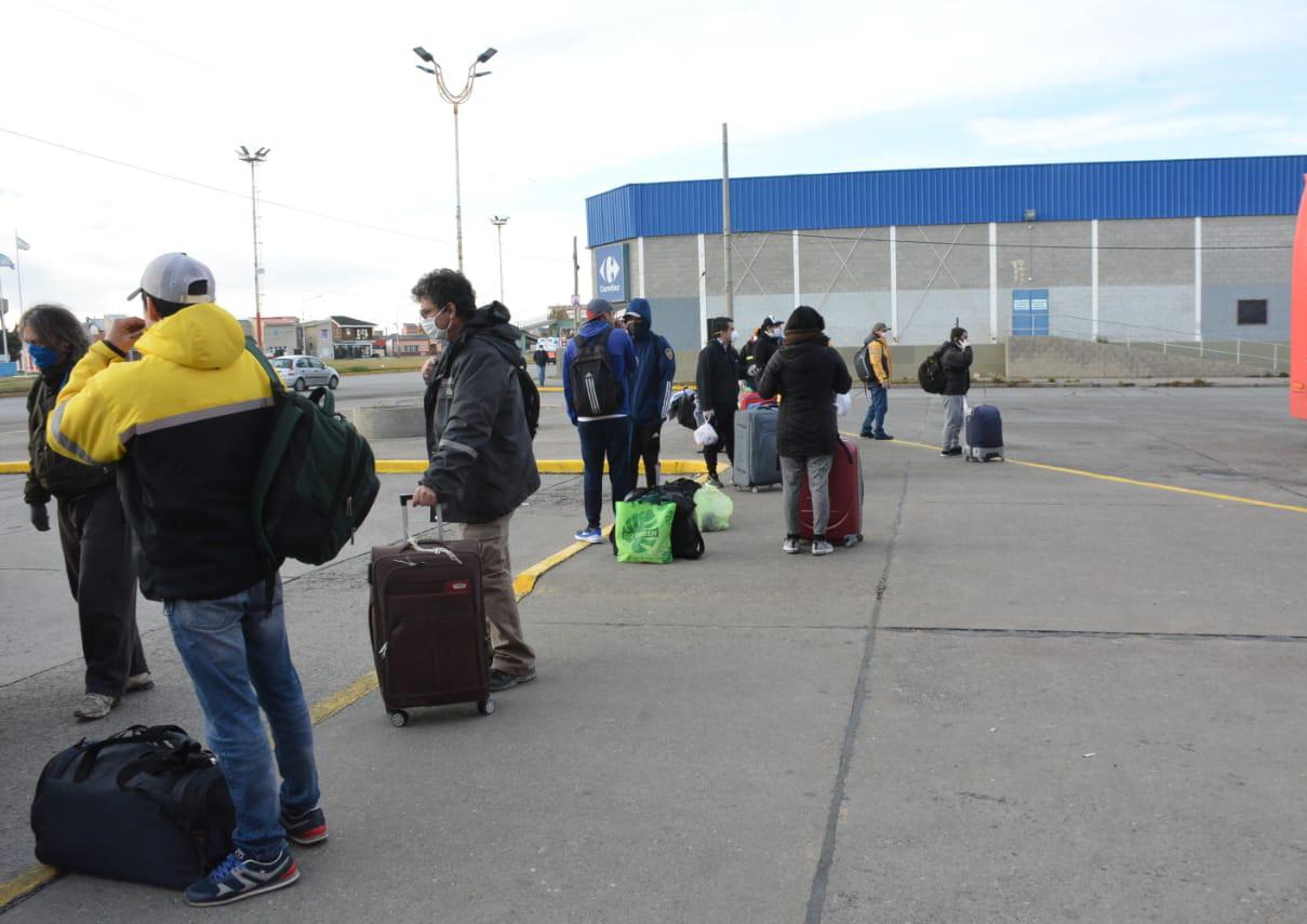 Se esperan unos 320 'repatriados' más en Río Gallegos.