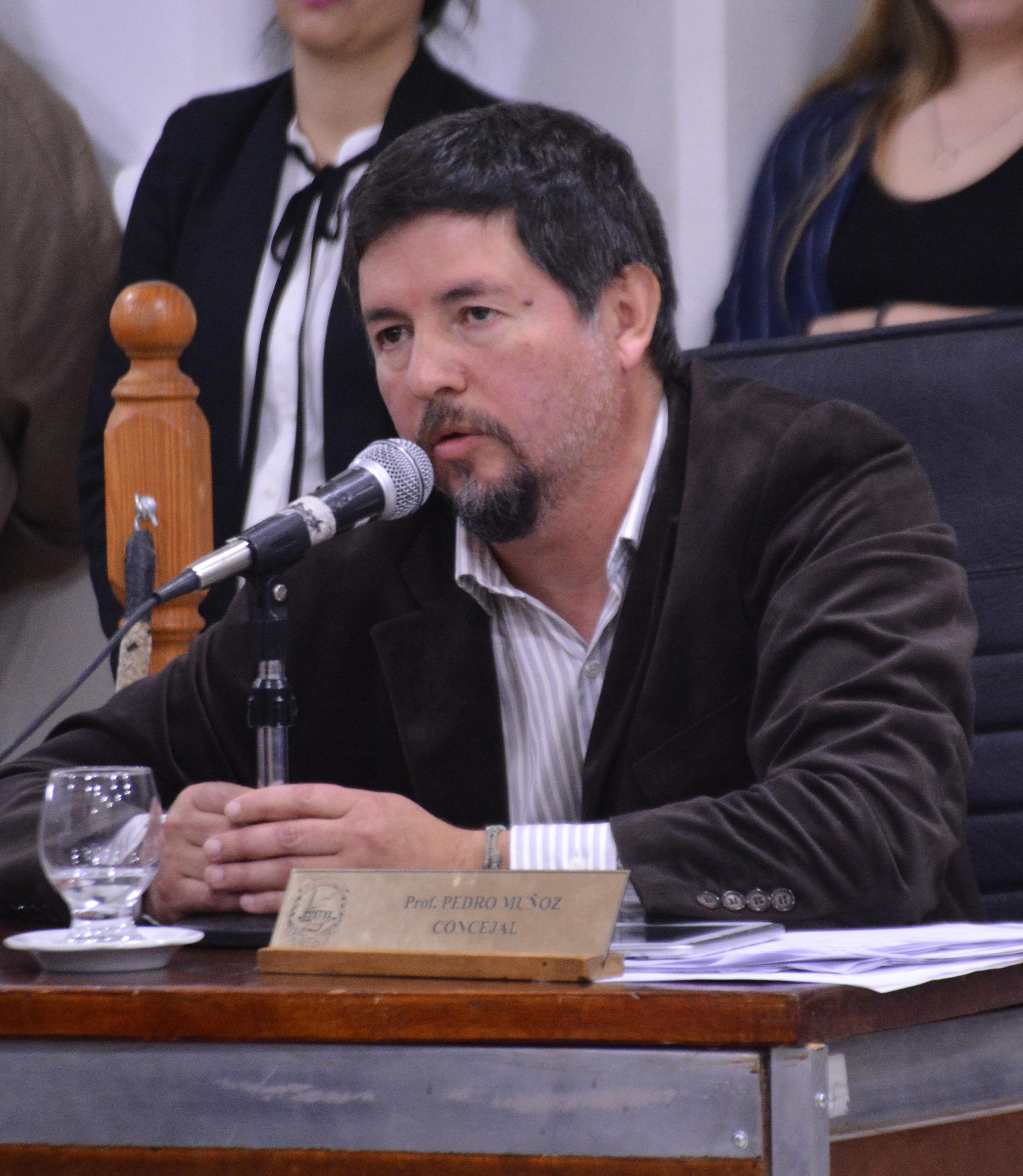 Pedro Muñoz, concejal de Río Gallegos.