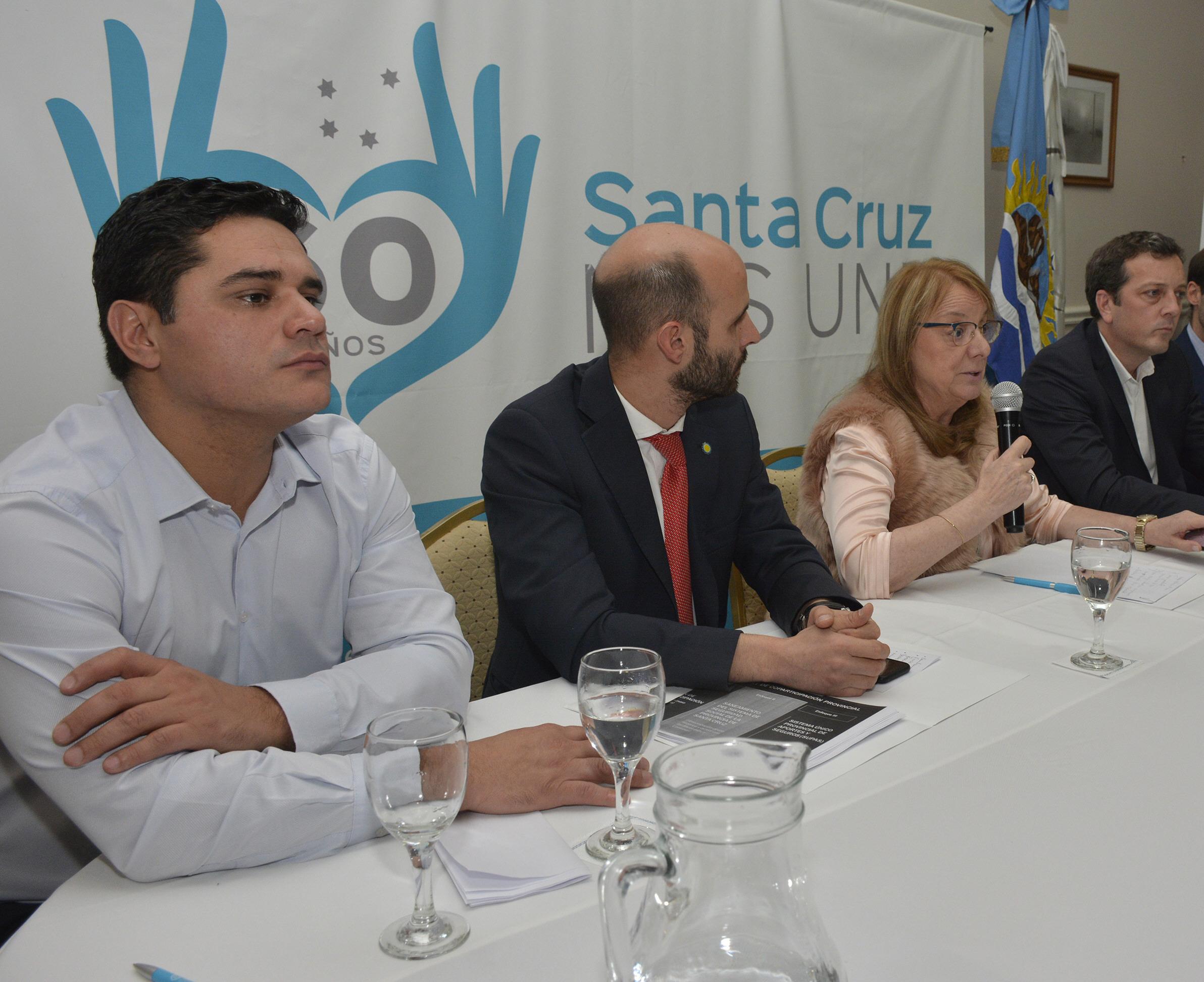Chávez, Basanta, Kirchner y Perincioli en el primer mandato.