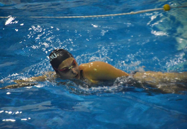 Cada nadador utiliza sólo un andarivel.