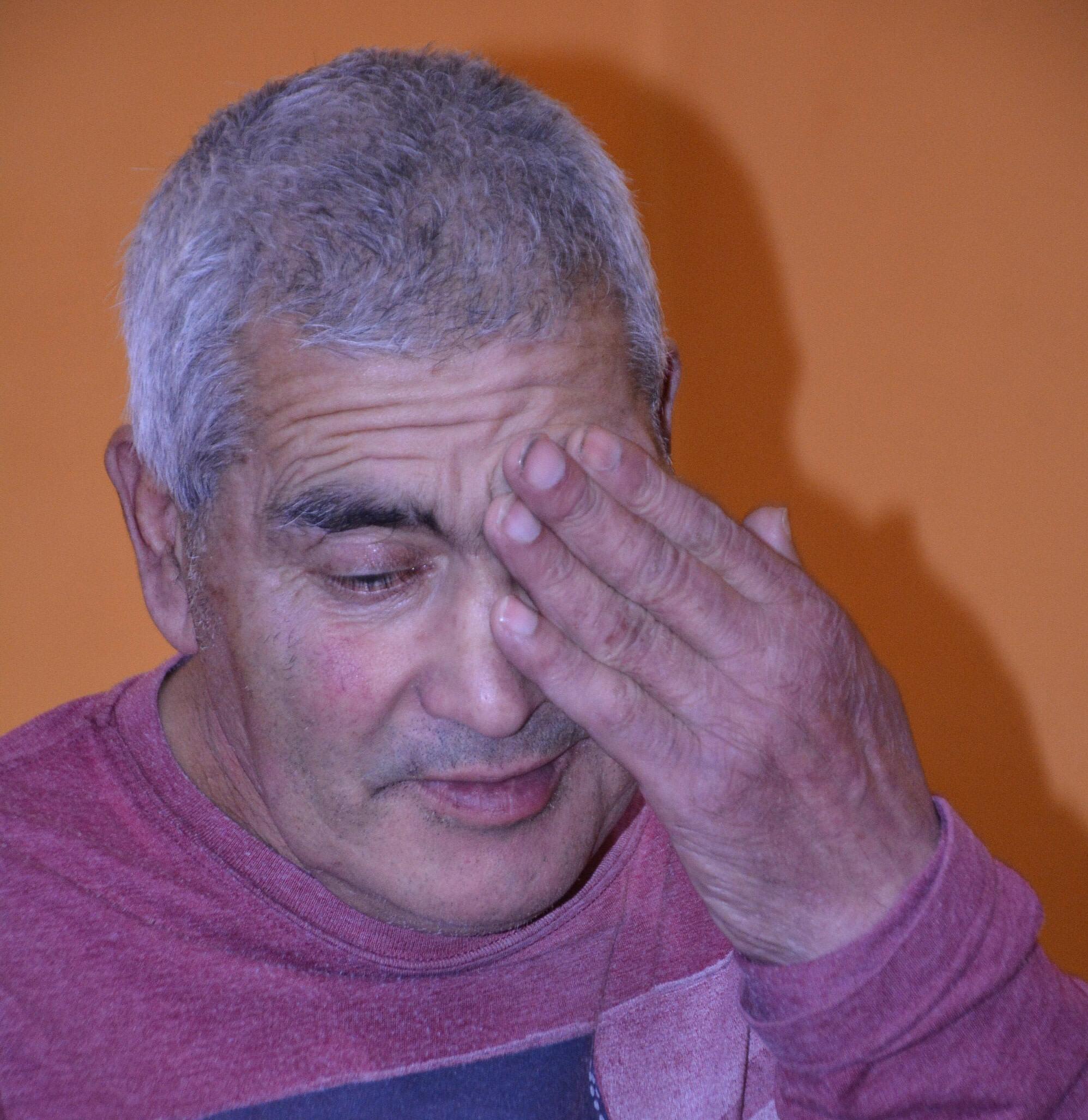'Maceta', el canillita más querido de Río Gallegos. FOTO: JOSÉ SILVA