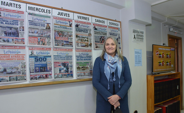 La ministra de Desarrollo Social recorrió la redacción de LOA. FOTO: JOSÉ SILVA