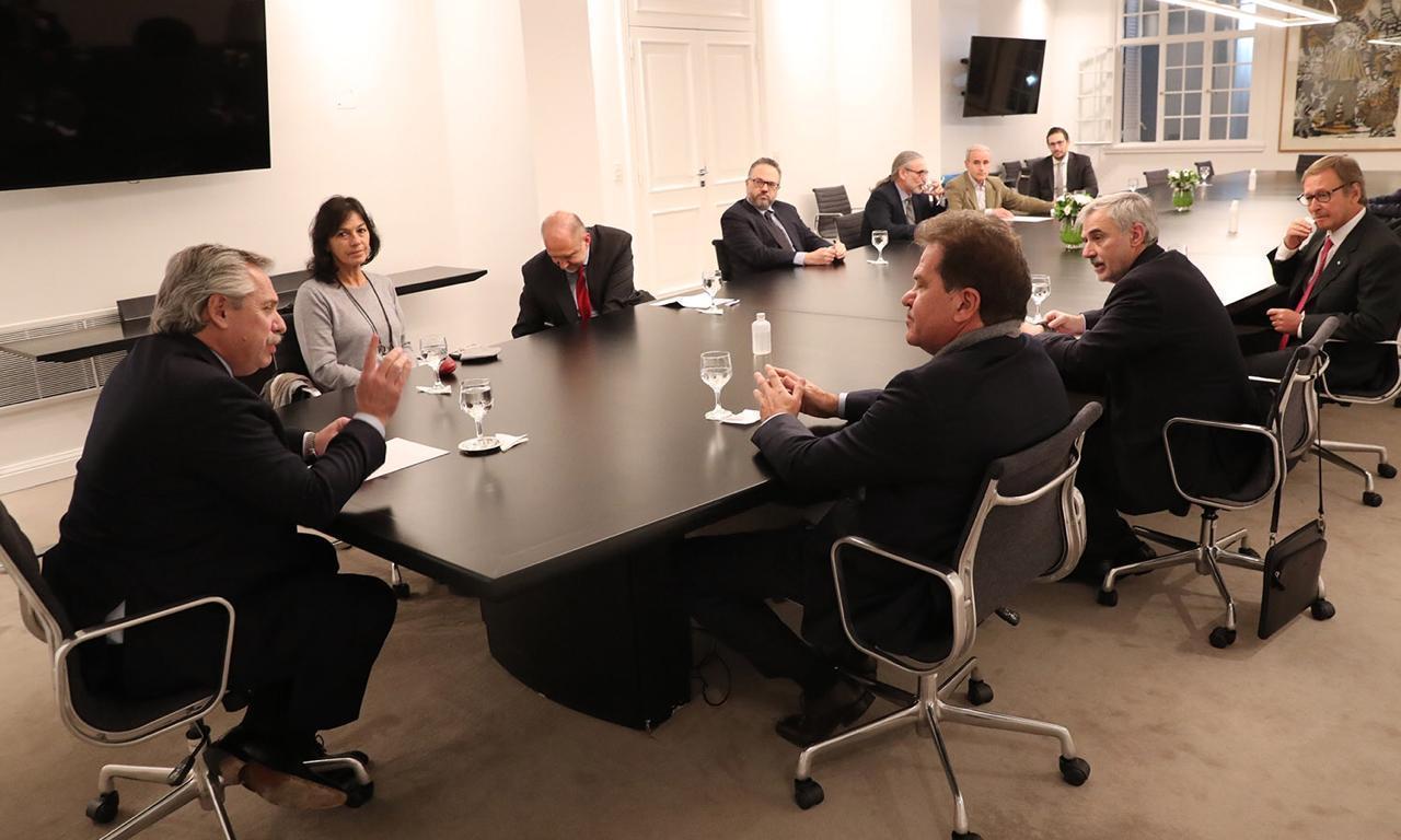 La semana pasada, Alberto recibió en la residencia presidencial a las autoridades de Vicentin.