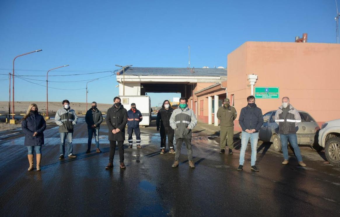 La comitiva visitó el lugar para verificar el cumplimiento de los protocolos