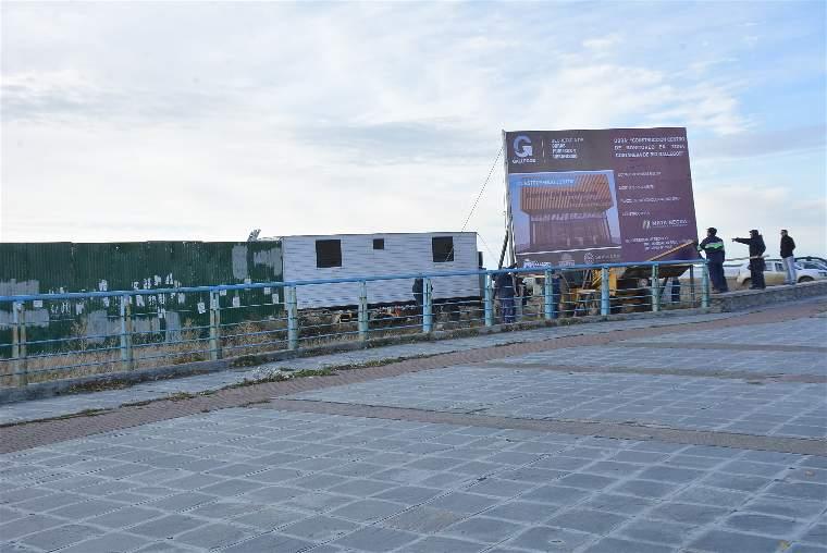 La primera idea era emplazar el Centro de Monitoreo en la costanera frente al barrio Jardín de Río Gallegos. FOTO: JOSÉ SILVA / LA OPINIÓN AUSTRAL.