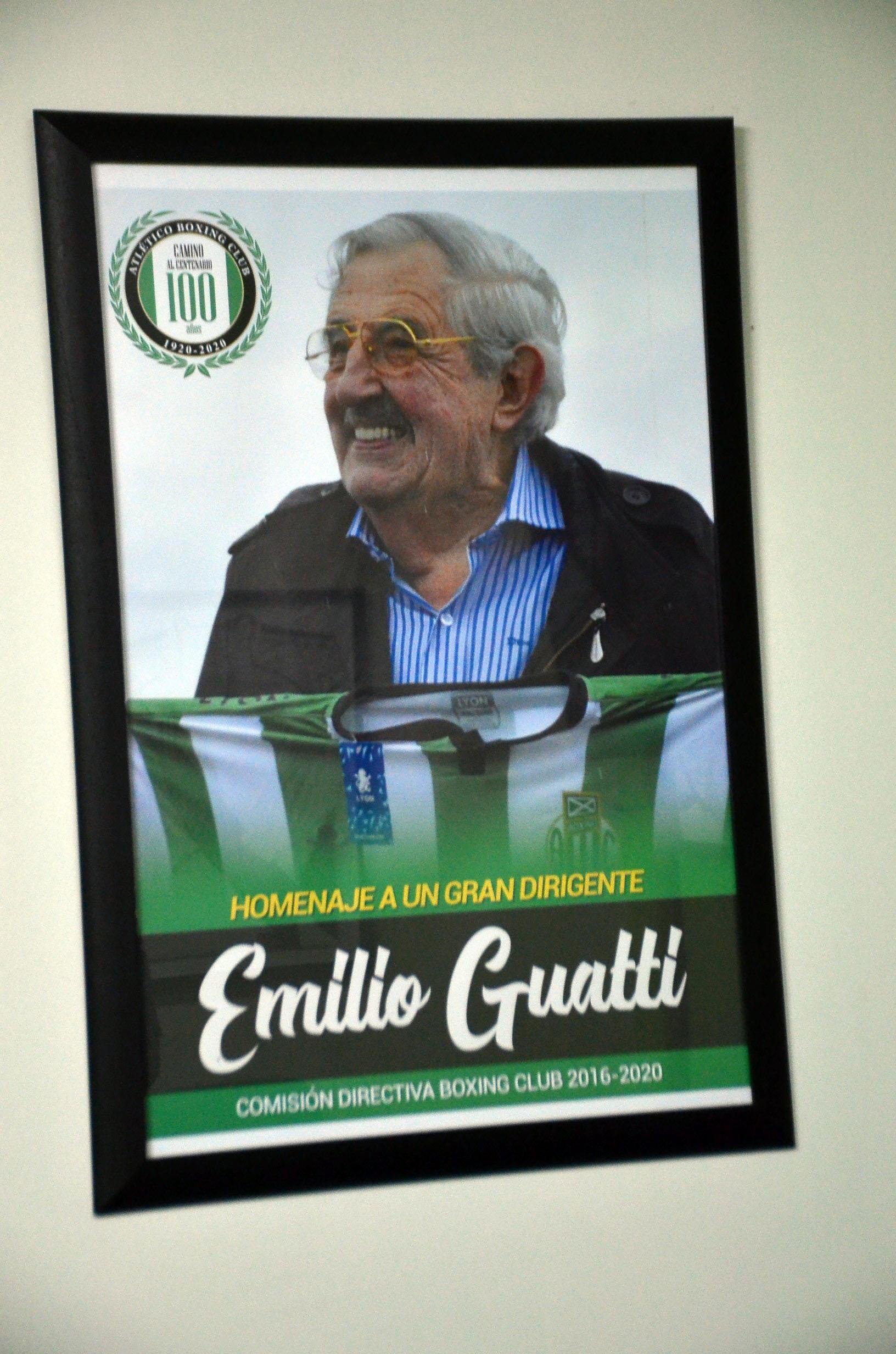 Cuadro de Emilio 'Pichón' Guatti en el salón de la comisión directiva de Boxing Club.