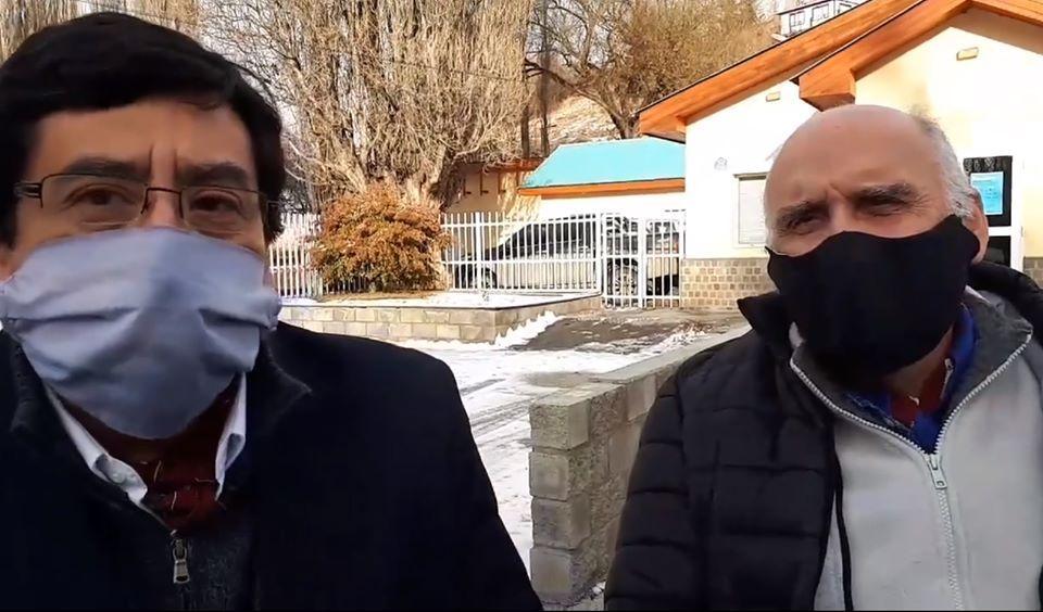 Los abogados Gabriel Giordano y Sandro Levín.