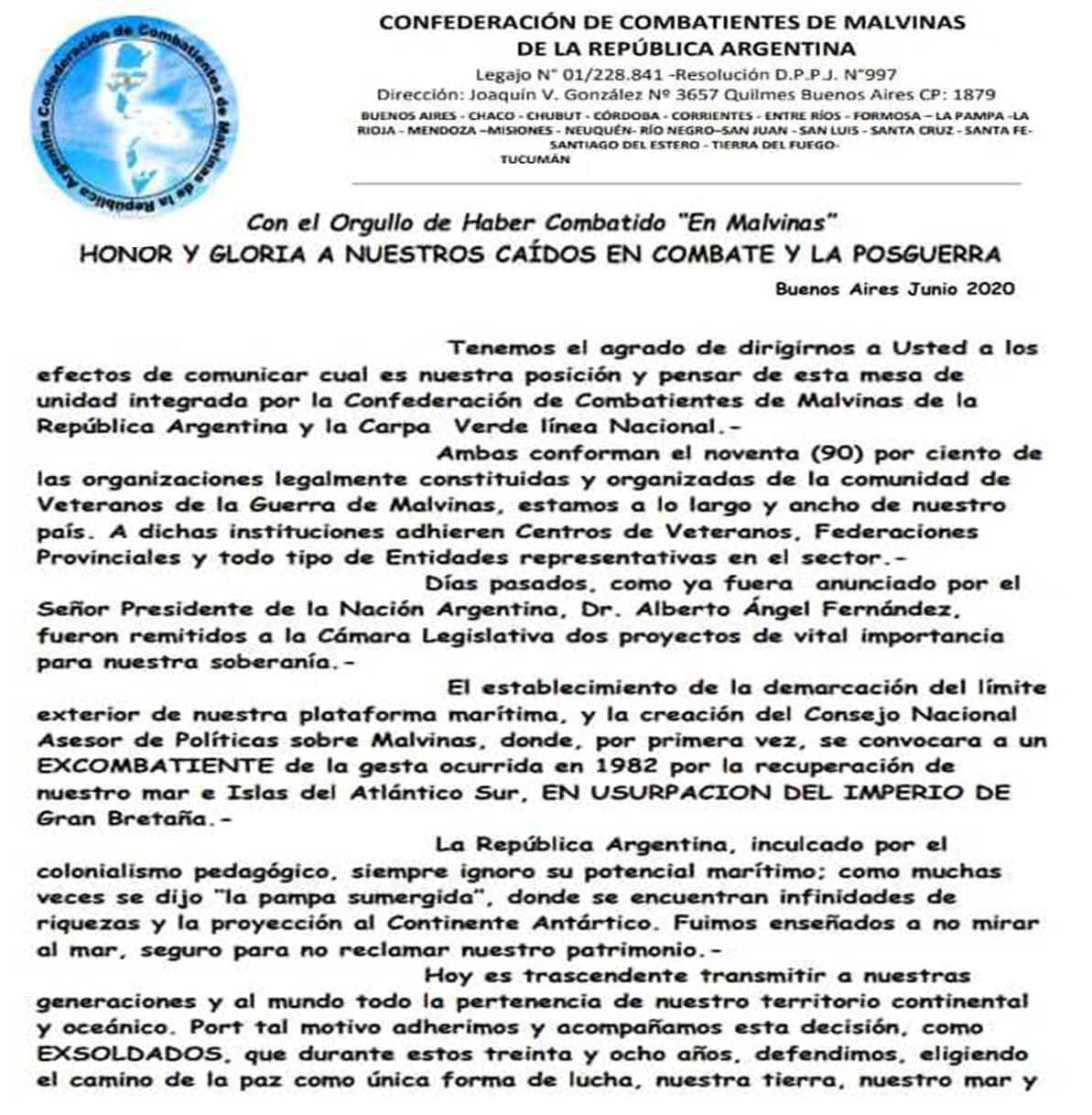 La confederación apoyando las iniciativas del Ejecutivo Nacional.