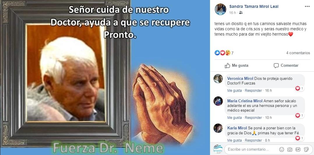 Los vecinos de Río Gallegos organizaron una cadena de oración y los mensajes de afecto llegaron de a decenas a las redes