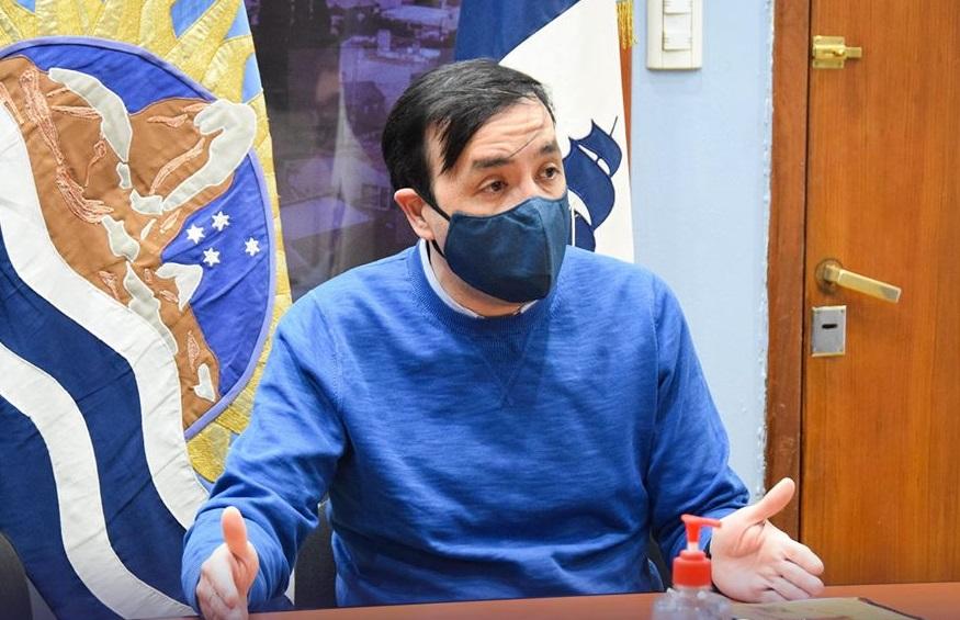 El intendente Pablo Grasso encabezó la reunión en el despacho municipal.