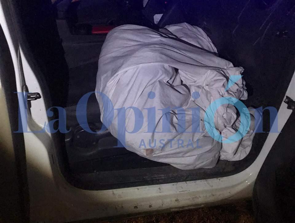 Las sábanas que le encontraron a Agustín Zaeta cuando lo atraparon en Punta Soberana.
