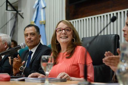 Alicia Kirchner, durante la apertura del 47° período legislativo