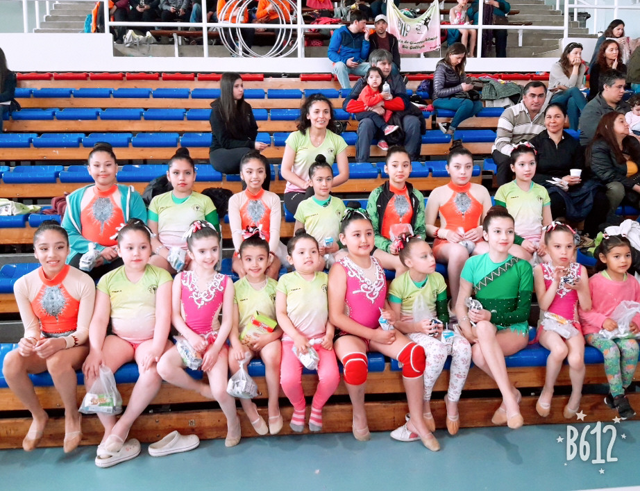 Primera participación de la Escuela de Gimnasia Rítmica.