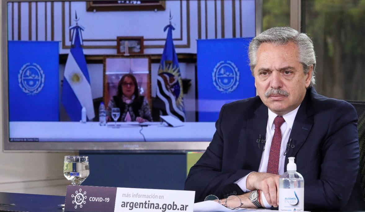 Desde Olivos, el presidente Alberto Fernández y el ministro de Obras Públicas, Gabriel Katopodis, anunciaron los alcances del convenio