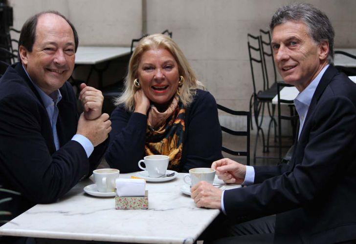 Sanz, Carrió y Macri. El regreso del discurso duro.