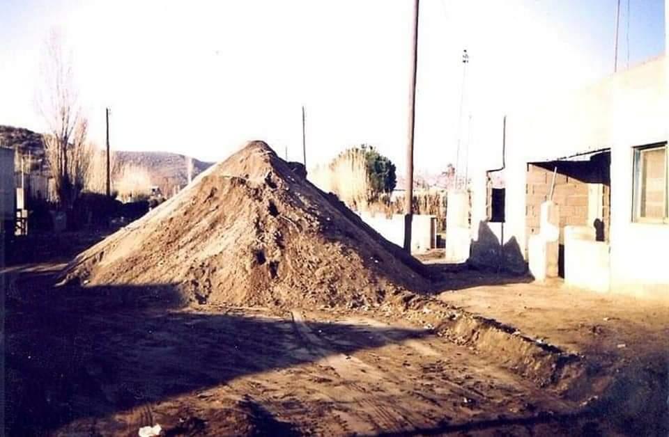 Tapado. La capa de cenizas tenía cerca de 45 centímetros de altura.