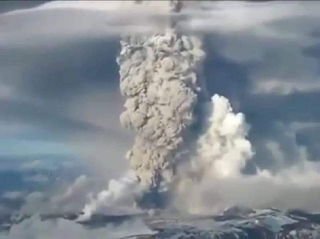 La erupción del volcán Hudson en el 91.