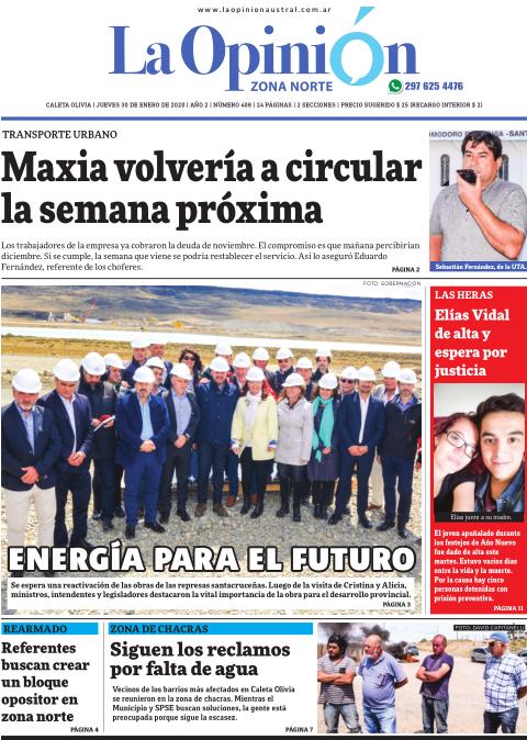 La vistia de la vicepresidenta Cristina Fernández de Kirchner a las represas de Santa Cruz.