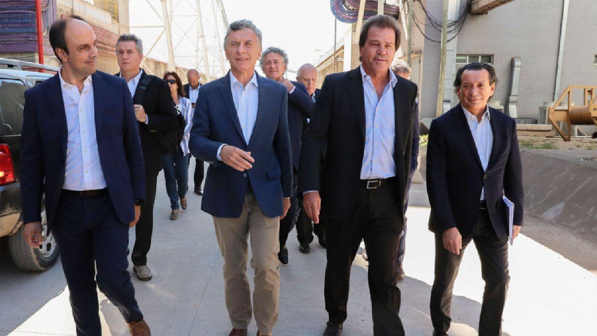 El ex presidente Mauricio Macri, junto al CEO de Vicentin, Sergio Nardelli