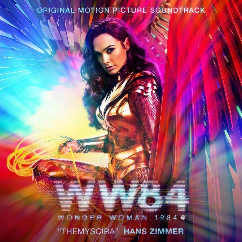 Gal Gadot con el traje dorado de Wonder Woman 1984.