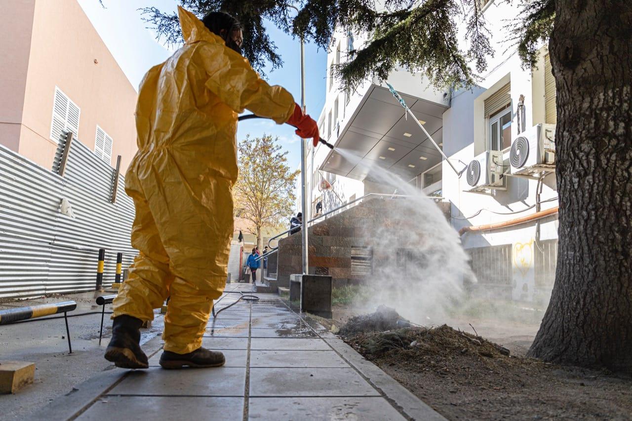 Municipio continúa con tareas de desinfección edificios públicos