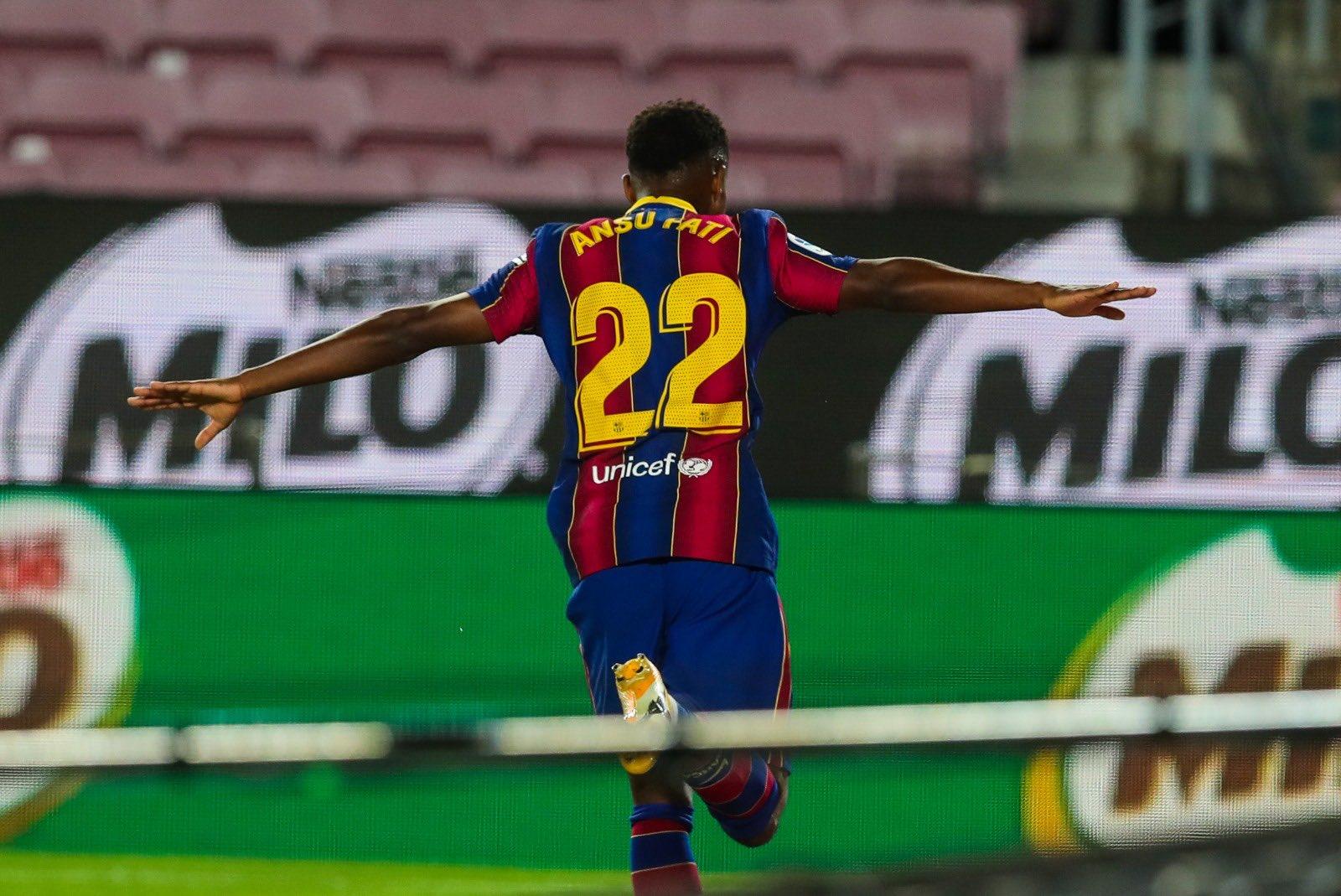 El delantero fue el autor del primer gol y doblete del Barsa en la temporada 20/21.