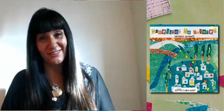 Verónica Lamberti en la presentación del libro, que pudo verse por www.laopinionaustral.com.ar.