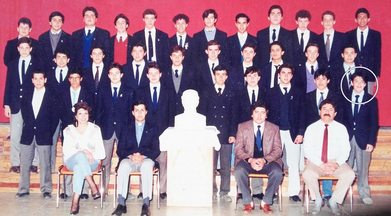 El grupo de amigos se conoció en el Colegio Salesiano