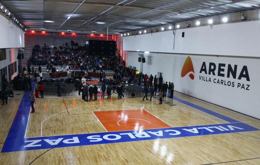 El Arena de Carlos Paz sería el escenario donde jugaría Hispano.