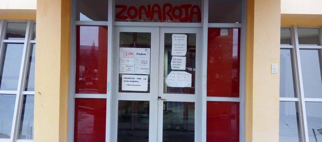 El Hospital Distrital tiene marcado el ingreso de Zona Roja COVID por prevención.