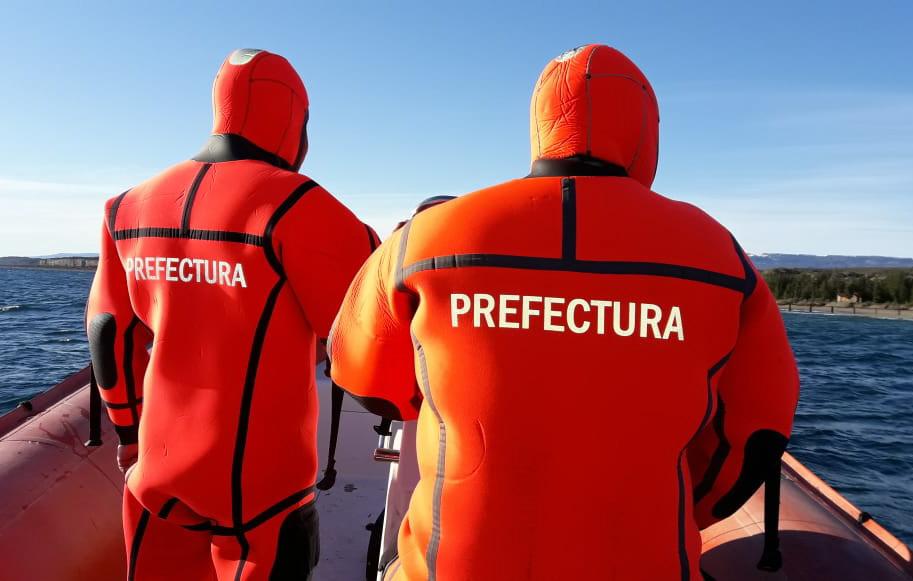 Prefectura Naval Argentina realizó una búsqueda en el lago Buenos Aires.