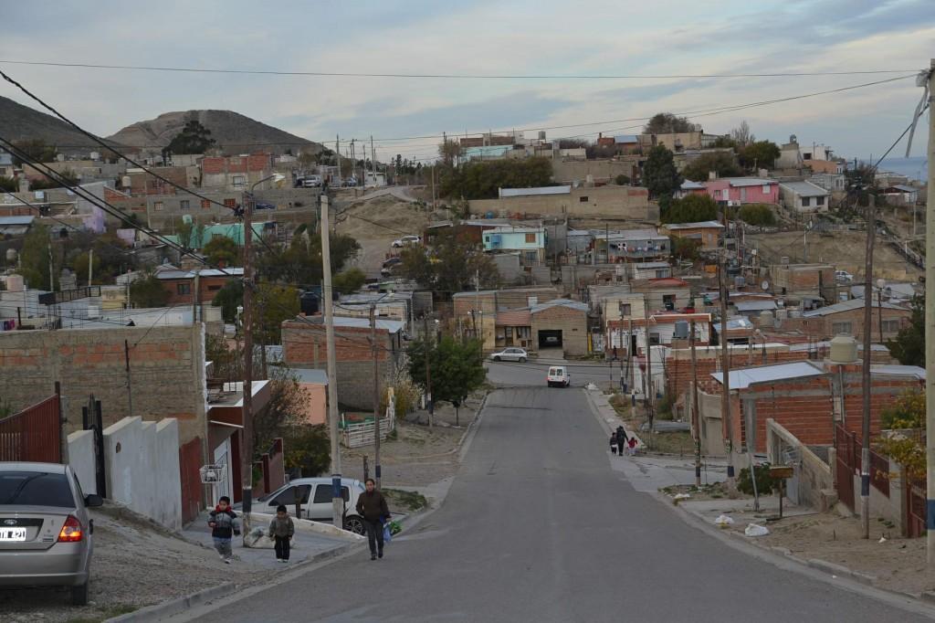 Barrio Las Flores, en Comodoro Rivadavia
