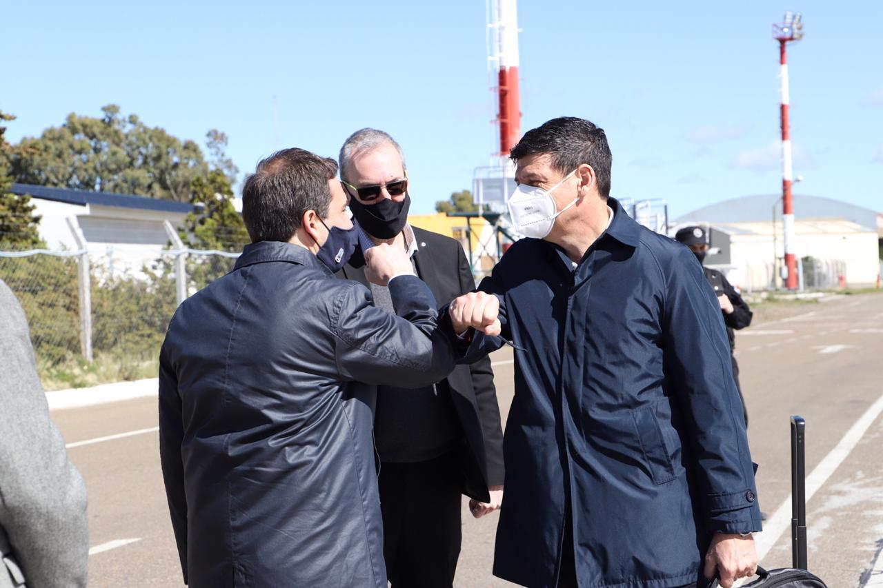 Luque recibió al viceministro de Salud de la Nación Arnaldo Medina en Comodoro Rivadavia para monitorear el Plan Detectar Federal.