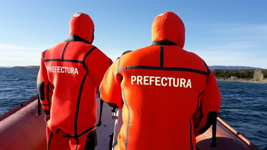Prefectura buscó al diputado Cesar Ormeño en el Lago Buenos Aires.