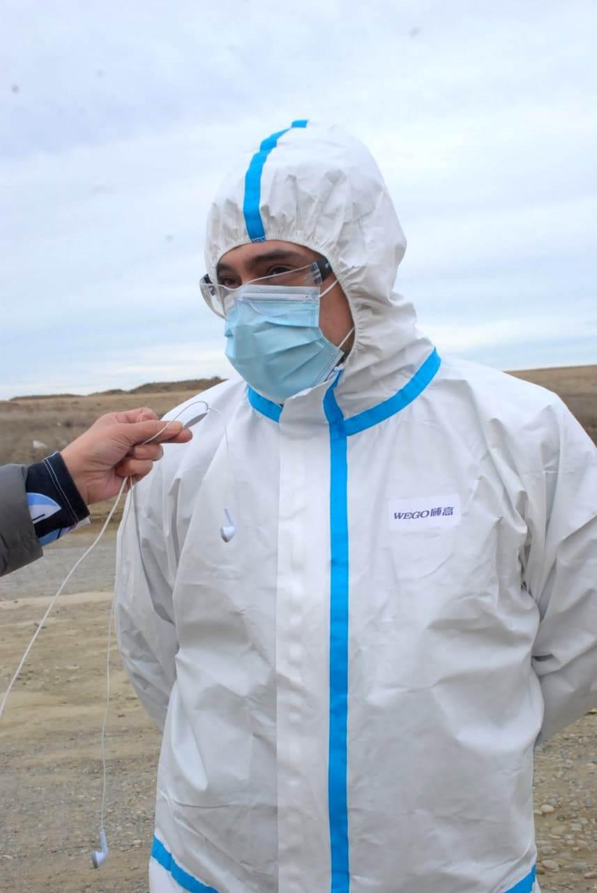 Rolando Huentelican, agente sanitario del Ministerio de Salud y Ambiente. FOTO: JOSÉ SILVA