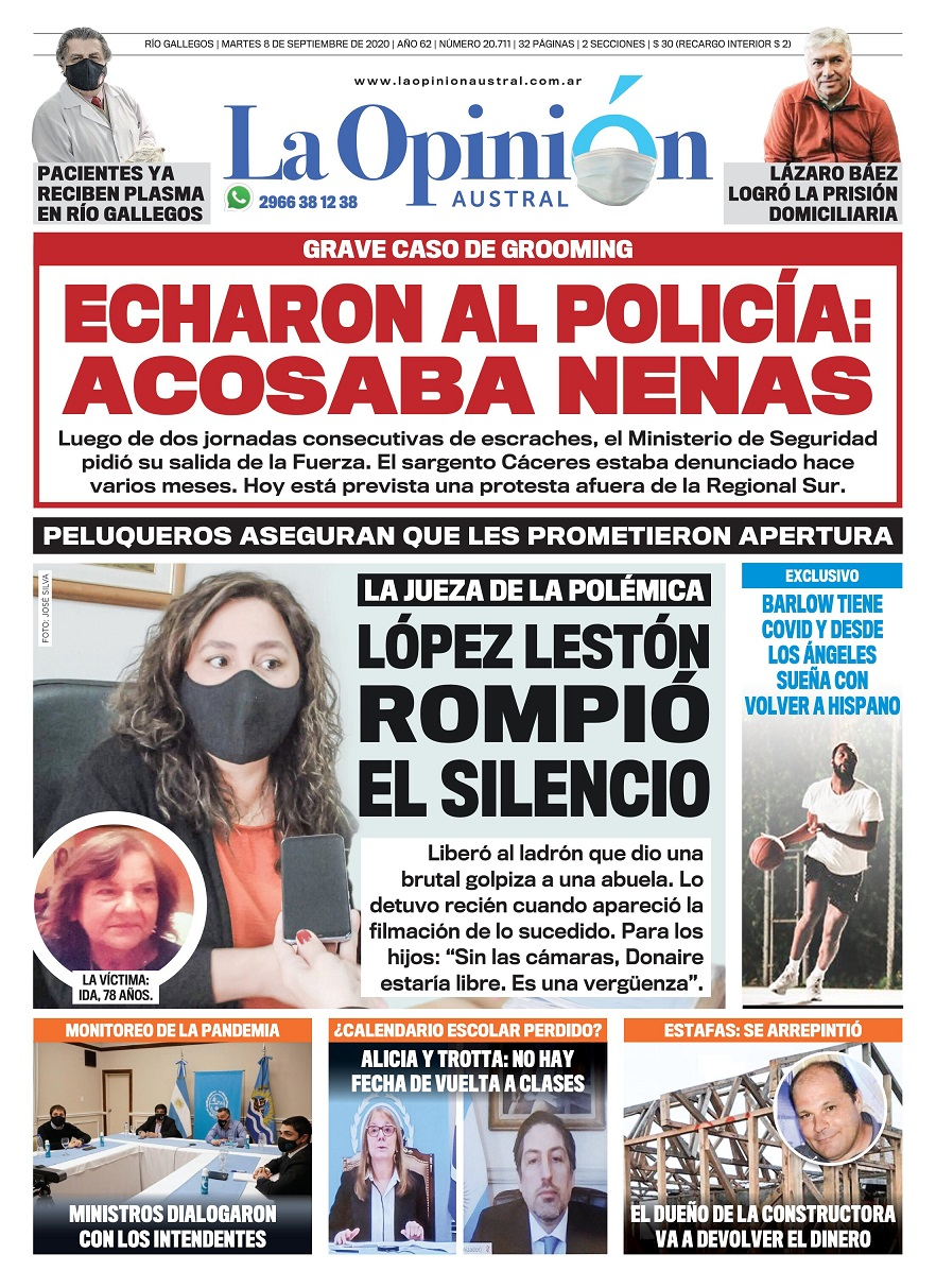 'Pacientes ya reciben plasma en Río Gallegos'