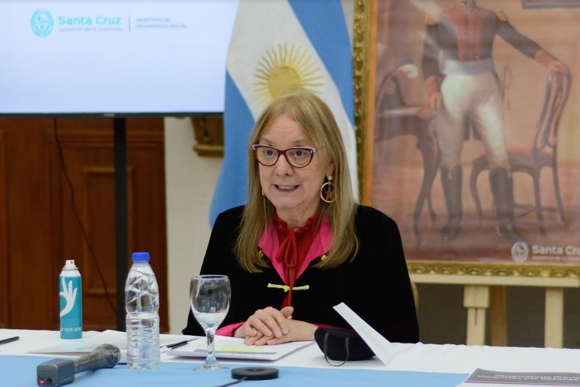 Gobernadora Alicia Kirchner encabezó el acto desde Casa de Gobierno